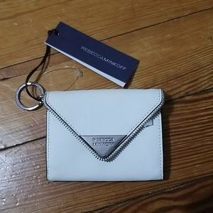 Rebecca Minkoff Keychain Wallet White Nwt